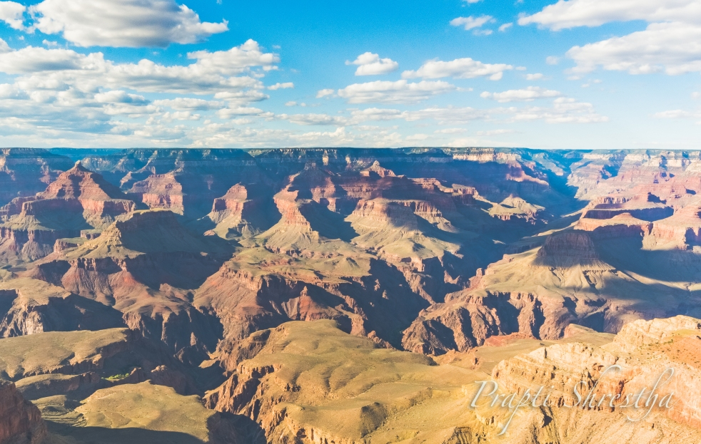 A view of the Grand Canyon from the Mather Point