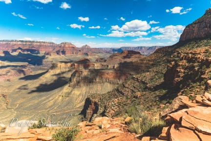 A view from the South Kaibab trail.