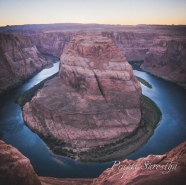 Sunset at Horseshoe Bend, Page, AZ