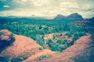 A panoramic view of Sedona, AZ